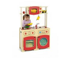 Inspirational Nurseries PT254 - Juego de 2 Juegos de Cocina Modular, Color Rojo