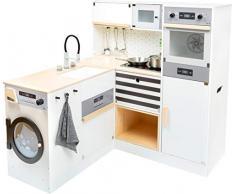 11464 Cocina infantil modular XL, small foot, de madera, cocina multifuncional, juego de rol, sistema modular , color/modelo surtido