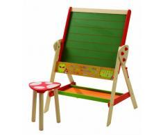 roba 7016 - Pizarra de pie con taburete de madera, color rojo [importado de Alemania]