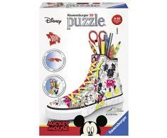 Ravensburger Italia 12055 – Disney Classics Sneaker Mickey Puzzle, 3D portalápices