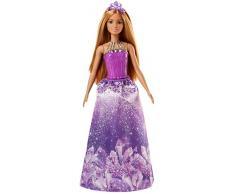 Barbie Dreamtopia, muñeca Princesa falda lila, juguete +3 años (Mattel FJC97)