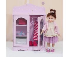Armario de madera para muñecas de 45,7 cm de Olivias World TD-0210AP