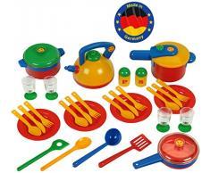 Theo Klein-9194 Emmas Kitchen Set De Ollas Grande, Juguete, Multicolor, Miscelanea (Klein/Emmas 9194)