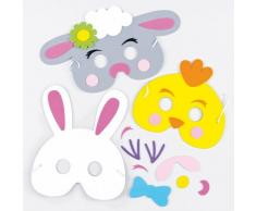 Baker Ross Kits de máscara de Espuma de Pascua para niños para Hacer decoración y Uso (Paquete de 3)