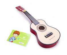 New Classic Toys New Classic Toys-10344 0344-Guitarra de Juguete, Natural, Color Naturel (Ref 0344)