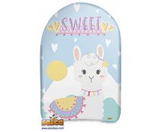 Saica Llama. Body Board Mini. Tabla para Nadar en Playa y Piscina. Surf, Color Blanco y Azul (103)