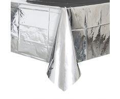 Mantel de Plástico - 2,74 m x 1,37 m - Foil Plata