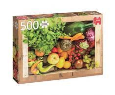 Jumbo - Caja de vegetales y frutas, puzzle de 500 piezas (618531)