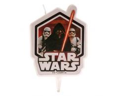 Dekora-346207 Vela de Cumpleaños en 2D de Kylo Ren con Soldados Imperiales de Star Wars, Color negro (346207