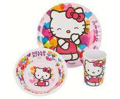 Hello Kitty - Set desayuno melamina sin orla 3 piezas (Stor 82290)