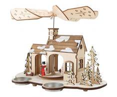 """Small Foot- Pirámide navideña """"Adviento"""" Decoración de Vidrio, Multicolor (1)"""