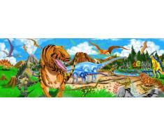 Melissa & Doug 10442 - Rompecabezas de la Tierra de los Dinosaurios para el Piso