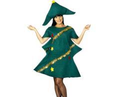 Smiffys-28265 Disfraz de árbol de Navidad, con túnica y Gorro, Color Verde, Tamaño único (SmiffyS 28265)