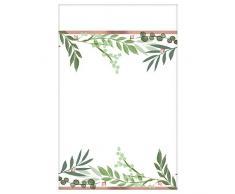 Amscan International 572143 - Vajilla de plástico para mantel, diseño de hojas