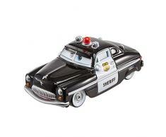 Cars 3- Vehículo Sherif Coche de Juguete Policía, Multicolor (Mattel FLM15)