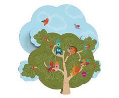 oribel Juegos educativos para niños vertiplay giocatolo que estimula La coordinación occhi-mani Las Habilita fino-motorie La casita del señor ardilla (La casetta del signor scoiattolo) - rompecabezas de dos niveles multicolor