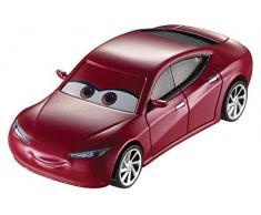 Cars Vehículo Natalie Certain, coche de juguete (Mattel DXV35)
