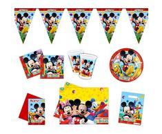 Disney Mickey Mouse-Invitaciones para fiestas decoración vajilla paquete