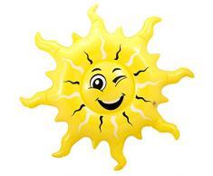 Folat B.V. Hinchable Sol 60 cm Sol De Verano Decoración De Fiesta Amarillo