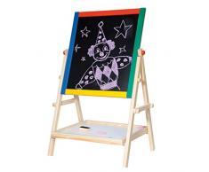 Woodyland 38 x 65,5 cm Didáctica Juguetes Pizarra magnética de Blanco y Negro