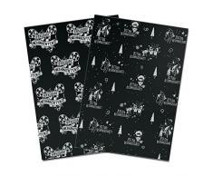 pechkeks 1601011 gris Sige de papel de regalo de Navidad Juego De 2, color negro