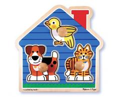 Melissa & Doug - Mascotas caseras, rompecabezas con clavijas grandes - (12055)