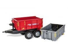 rolly toys 123933 RollyToys - Cajonera con Ruedas para niños de 3 a 10 años (2 estantes, función de inclinación), Color Gris y Rojo