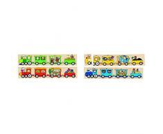 Goki 56945 puzzle 32 pieza(s) - Rompecabezas (Rompecabezas para suelo, Vehículos, Niño pequeño, 2 año(s), Madera, CE)