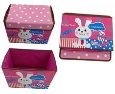 GMMH Diseño Caja Juegos Ciervo 38 cm x 26 cm x 27 cm Muebles Infantiles Aufbewahrungsbox Toybox Almacenamiento Ton