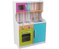 KidKraft- Cocina de juguete de madera en colores brillantes , Color Multicolor (53378)