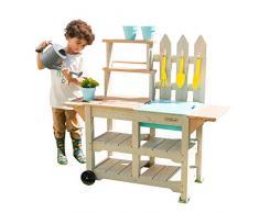 KidKraft- Estación de juguete de jardinería Greenville para juguetes de jardín de exteriores (incluye 7 accesorios) Play Kitchen , Color Marrón (415)