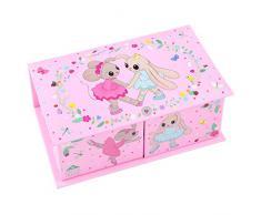 House of Mouse – Joyero 8885 diseño 1, color rosa con conejitos