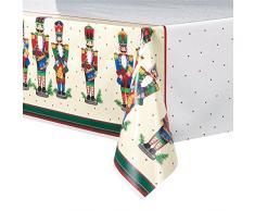 Cascanueces de la Navidad mantel de plástico, 7 pies x 4.5 ft