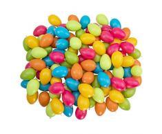 Idena plástico Ojal, 100 Unidades, 6 cm Cada, Manualidades, Primavera, decoración, Huevos de Pascua, Color carbón (31489)