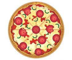 Amscan International 552017 - Vajilla de papel y plástico, 23 cm, placa redonda para pizza