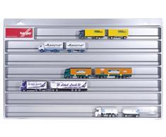 Herpa 029728 - Camiones Vitrina Colgador Trains, vehículos, Plata
