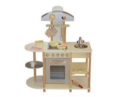 Liberty Juguetes de la casa - Cocina de Juguete de Madera, con Accesorios, Dimensiones 87 x 40 x 102 cm, de Color: Gris