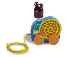 Oops Vaya LHB 17.007,13 - Fácil Juguetes Tire Tire de Madera en diseño Colorido, Animal Lindo - Caracol