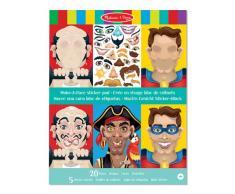 Melissa & Doug- Make-a-Face Crazy Characters Cojín de Pegatinas, 4+ Años, Multicolor (14237)
