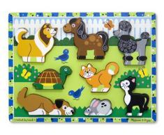 Melissa & Doug- Pets Juego Puzzle con 8 Piezas, Multicolor (Melissa&Doug 13724)