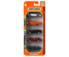Mattel-C1817 Pack de 5 vehículos del desierto, coches de juguete, aplicable (C1817