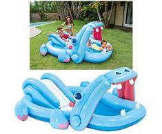 Intex 57150NP - Piscina hinchable hipopótamo 221 x 188 x 86 cm, 227 litros