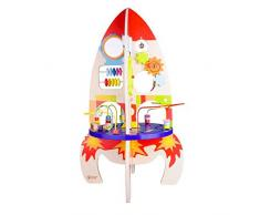 Classic World - Cohete de Madera Multiactividades Juguete para Niños
