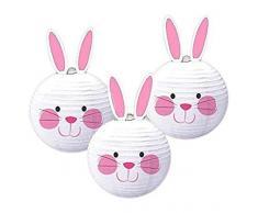 Amscan - 241986 Lanterns 24 cm de conejo de Pascua