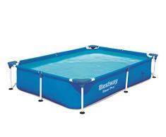Bestway Steel ProPool 221x150x43 cm, Stahlrahmenpool Piscina Desmontable Tubular Infantil Color Azul 56401