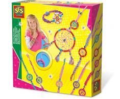 SES Creative Joyería atrapasueños SES - Kits de joyería para niños (Juego de joyería, 6 año(s), Colores Surtidos, Niño, Chica, Caja)