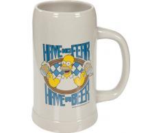 United Labels 116491 Los Simpson - Jarra de cerveza de loza con diseño de Homer