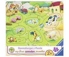 Ravensburger 00.003.683 9pieza(s) Puzzle - Rompecabezas (Rompecabezas para Suelo, Granja, Niños, Madera, 240 mm, 180 mm)