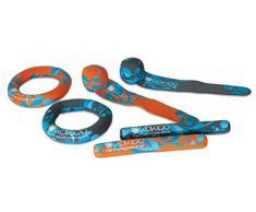 Kokido - Set de 2 sticks, 2 anillas y 2 serpentinas de neopreno para jugar en la piscina o la playa (K564CS)
