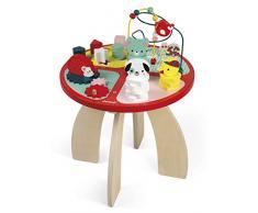 Janod- Baby Forest Mesa de Actividades, Multicolor, 40 x 40 x 56 cm (Jura Toys J08018) , color, modelo surtido
